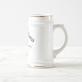Chope À Bière soixante-dixième Anniversaire Stein