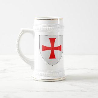 Chope À Bière Stein de Templar de chevaliers