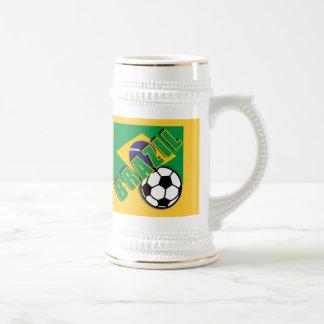 Chope À Bière T-shirts de fan de foot du monde du BRÉSIL