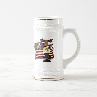 Chope À Bière T-shirts et cadeaux patriotiques d'orignaux