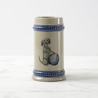 Chope À Bière Teckel bleu Stein de saule
