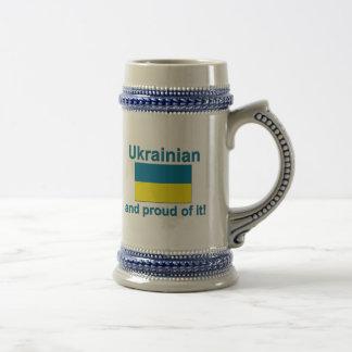Chope À Bière Ukrainien fier