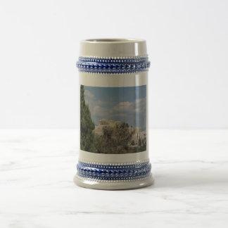 Chope À Bière Une vue d'Acropole de colline de Filopappou