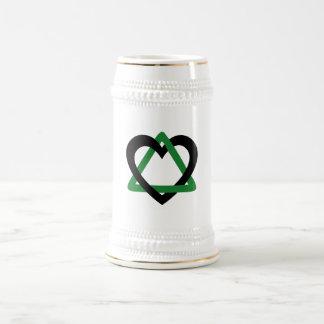 Chope À Bière Vert de noir de triangle d'adoption