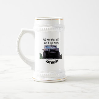 Chope À Bière Vous pouvez conduire rapidement mais je peux