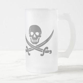 Chope Givrée Crâne de sourire simple de pirate avec les épées