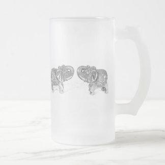 Chope Givrée Double éléphant de Feng Shui - B&W