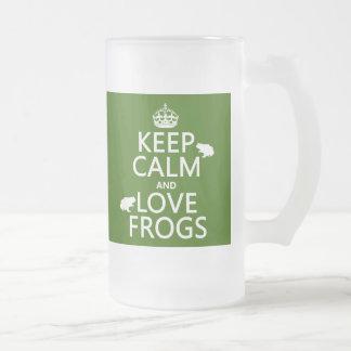 Chope Givrée Gardez le calme et aimez les grenouilles (toute