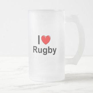 Chope Givrée J'aime le rugby de coeur