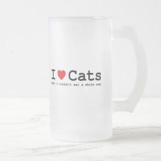Chope Givrée J'aime les chats (mais moi ne pourrait pas manger