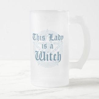 Chope Givrée Le slogan de la sorcière et le pentagramme de
