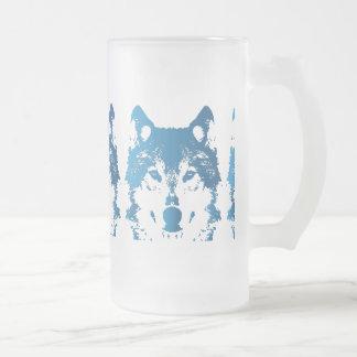 Chope Givrée Loup de bleu glacier d'illustration