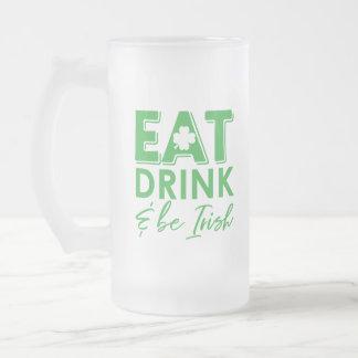 Chope Givrée Mangez, boisson et soyez le jour de St Patrick