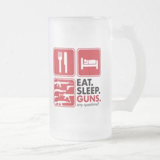 Chope Givrée Mangez les armes à feu de sommeil - rouge