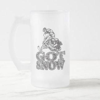 Chope Givrée Neige obtenue Snowmobiler