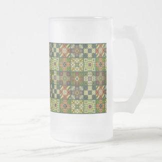 Chope Givrée Ornement vintage de talavera de mosaïque