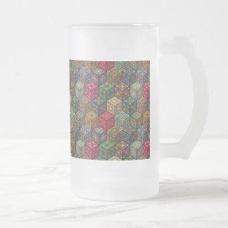 Chope Givrée Patchwork vintage avec les éléments floraux de
