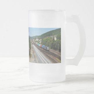 Chope Givrée Train de marchandises dans les Gemünden au Main