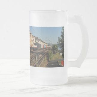 Chope Givrée Train de marchandises dans les Lorchhausen au Rhin