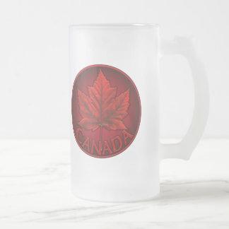 Chope Givrée Verres de souvenir de feuille d'érable du Canada