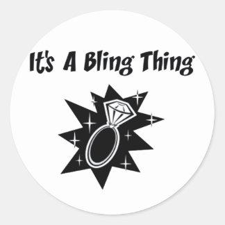 Chose de Bling Sticker Rond