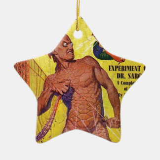 Chose géante d'homme de la mer ornement étoile en céramique