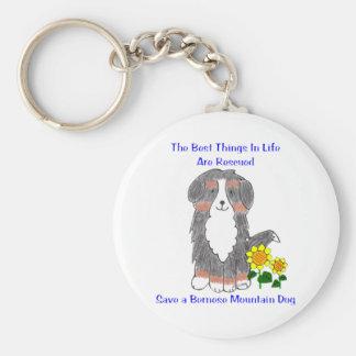 Choses de chien de montagne de Bernese les Porte-clé Rond