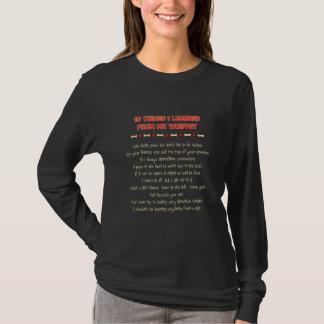 Choses drôles I appris de mon whippet T-shirt