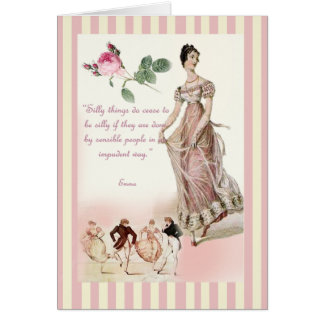 Choses idiotes - Jane Austen Carte De Vœux