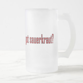 choucroute obtenue ? frosted glass beer mug