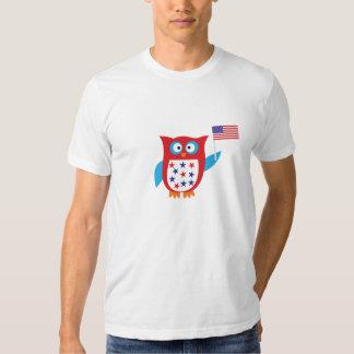 Chouette épervière de Jour de la Déclaration d'Ind T-shirt