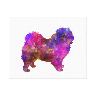 Chow-chow 01 in Watercolor 2 Toile