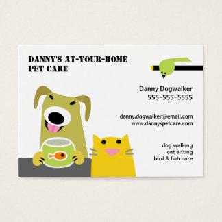 Choyez l'oiseau de chat de chien de Garde Cartes De Visite