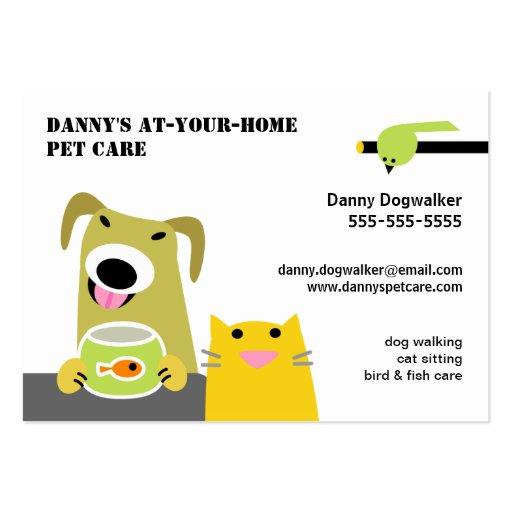Choyez l'oiseau de chat de chien de Garde d'enfant Cartes De Visite Professionnelles