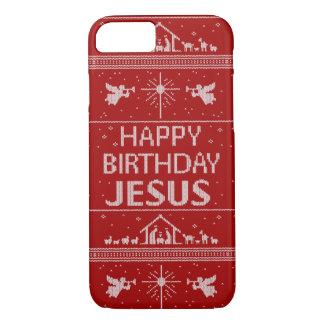 Chrétien UCS - Joyeux anniversaire Jésus - rouge Coque iPhone 7
