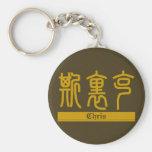 Chris - kanji Keychain nommé Porte-clé