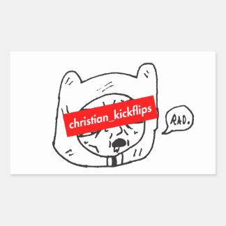 christian_kickflips sticker rectangulaire