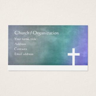 Christianisme - carte bleue religieuse de croix de
