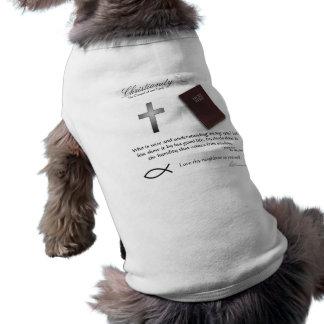 Christianisme - habillement d'animal familier de p t-shirt pour chien