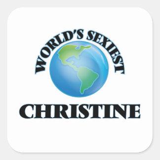Christine la plus sexy du monde autocollants carrés
