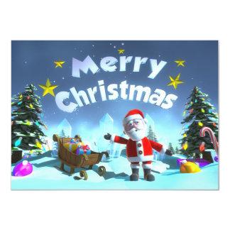 Christmas Carton D'invitation 11,43 Cm X 15,87 Cm