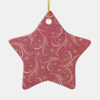Christmas curls ornement étoile en céramique