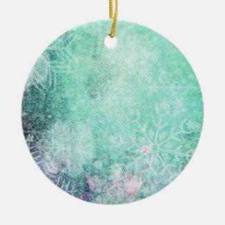 Christmas flowers ornement rond en céramique