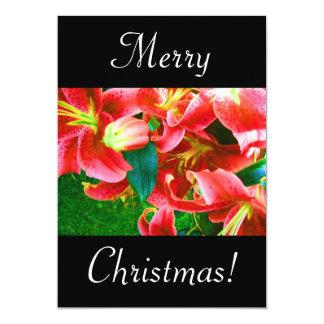 Christmas Lilies Custom Invite