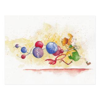 Christmas stress carte postale