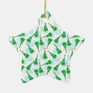 Christmas trees ornement étoile en céramique