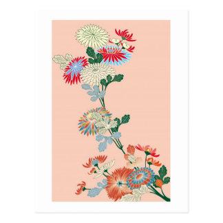 Chrysanthème japonais carte postale