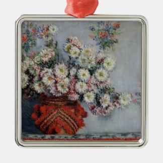 Chrysanthèmes de Claude Monet |, 1878 Ornement Carré Argenté