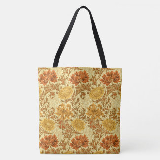 Chrysanthèmes de William Morris, or de moutarde Sac