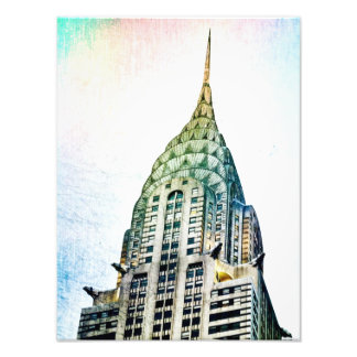 Chrysler construisant - congelé - New York City Tirage Photo